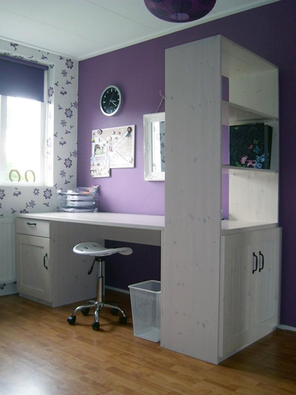 Slaapkamer kinderen slaapkamer meubelmakerij popke postma - Kamer wanddecoratie kind ...